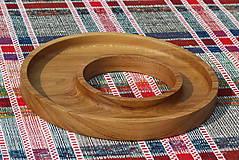 Nádoby - miska z dubového dreva - 11717608_