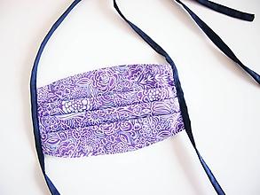 Rúška - Rúško - ornamenty na fialovej - 11722818_