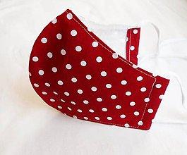 Rúška - Rúško tvarované - Guličky na červenej (2 vrstvy) - 11722493_