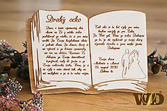 Dekorácie - Poďakovanie rodičom kniha - 11721825_