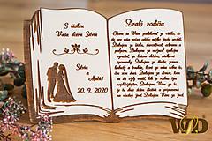 Dekorácie - Poďakovanie rodičom kniha - 11721826_