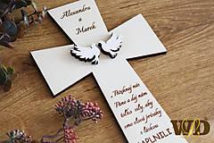 Dekorácie - Krížik na manželskú prísahu - 11721992_