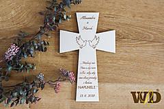 Dekorácie - Krížik na manželskú prísahu - 11722011_