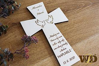 Dekorácie - Krížik na manželskú prísahu - 11722010_