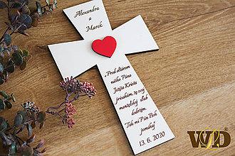 Dekorácie - Krížik na manželskú prísahu - 11722018_
