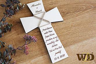 Dekorácie - Krížik na manželskú prísahu - 11722023_