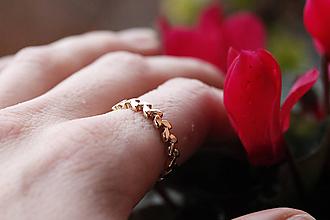 Prstene - Lístočkový hladký v zlate - 11723964_