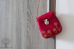 Kabelky - Kožená kabelka kvety - 11723002_