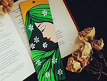 Papiernictvo - Drevená záložka do knihy - Jar milá - 11721030_