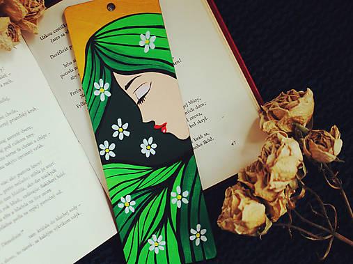 Drevená záložka do knihy - Jar milá