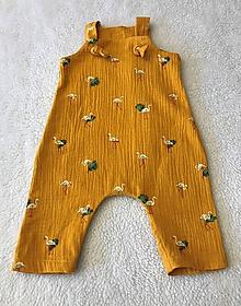 Detské oblečenie - Overal z dvojitej gázoviny - 11722371_