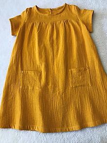 Detské oblečenie - Dievčenské šaty z dvojitej gázoviny - 11722552_