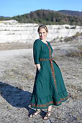 Šaty - ľanové šaty Ráchel - 11724277_