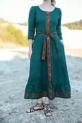 Šaty - ľanové šaty Ráchel - 11724285_