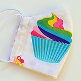 Rúško s cupcakes ~ dvojité na filter