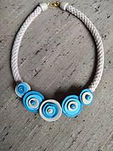 Náhrdelníky - Kvietkovaný náhrdeľník - 11721856_