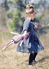 Detské oblečenie - Lněné šatičky šedé - 11724475_