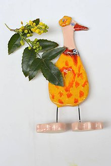 Dekorácie - Veľká noc dekorácia hus oranžová - 11723724_