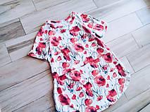 Tehotenské/Na dojčenie - Vzorované kojo tričko (Krátky rukáv) - 11724349_