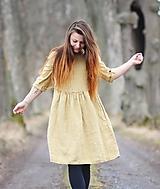 Šaty - Pískové šaty lněné - 11721547_