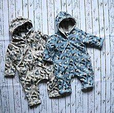 Detské oblečenie - Prechodný overal Líšky - 11728162_