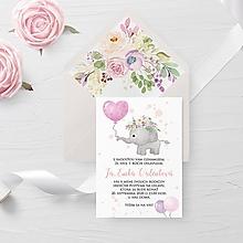 Papiernictvo - Narodeninová pozvánka ružový balónik - 11725081_