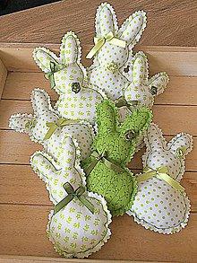 Dekorácie - Jarné zajačiky - 11727524_