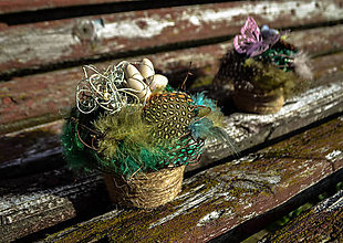 Dekorácie - Malý veľkonočný kvetináč - 11728123_