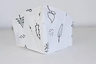 Rúška - Rúško DeLuxe  pre deti 5 -10 rokov (vzor Les) - 11729429_