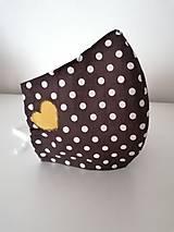Rúška - Ochranné rúško bavlnené ergonomické Srdiečko - 11726690_