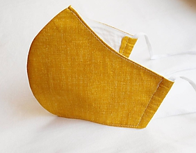 Rúška - Rúško tvarované - Okrové (2 vrstvy) - 11726981_