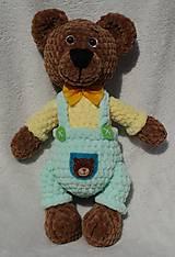 Hračky - Háčkovaný medvedík František - 11725985_