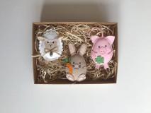 Dekorácie - Veľkonočné vajíčka - ovečka, prasiatko, zajačik - 11726858_