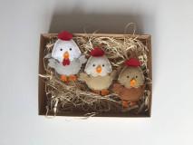 Dekorácie - Veľkonočné vajíčka - sliepky a kohút - 11727357_