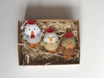 Dekorácie - Veľkonočné vajíčka - sliepky a kohút - 11727358_
