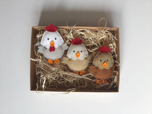 Veľkonočné vajíčka - sliepky a kohút