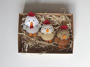 Dekorácie - Veľkonočné vajíčka - sliepky a kohút - 11727383_