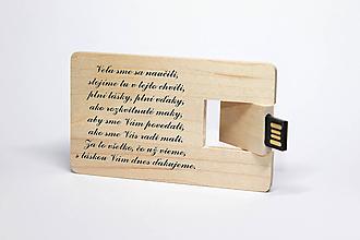 Drobnosti - DREVENÉ USB_PANI UČITEĽKE - 11728193_