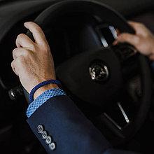 Šperky - SNAKE For Him - elegantný pánsky náramok, modrý - 11727913_