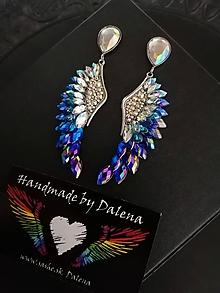 Náušnice - Modré anjelske krídla - 11729513_