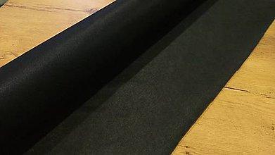 Textil - Nažehľovací vlizelín - cena za 10 cm (Čierna) - 11732635_