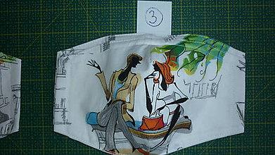 Rúška - Rúško bavlnené trojvrstvové (číslo 3) - 11731192_