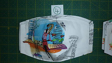 Rúška - Rúško bavlnené trojvrstvové (číslo 4) - 11731193_