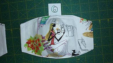 Rúška - Rúško bavlnené trojvrstvové (číslo 6) - 11731200_