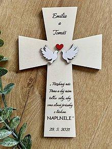 Dekorácie - Krížik na manželskú prísahu - 11732165_