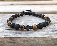 Šperky - Náramok - láva, ónyx, tigrie oko - 11729640_