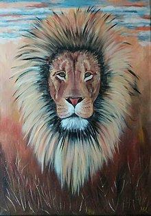 Obrazy - Lev ako kráľ savany - 11730477_