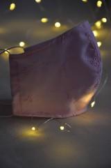 Rúška - Detské rúško na tvár (Ružová madeira) - 11732142_