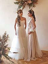 Šaty - Dvojdielne svadobné šaty - korzet a sukňa - 11729930_