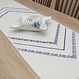 Úžitkový textil - TEREZA - folklór nestarne - bavlnený behúň modrý - 11729682_